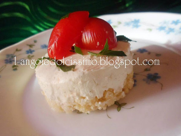 Cheesecake con base croccante